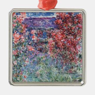 Chambre de Claude Monet | chez Giverny sous les Ornement Carré Argenté