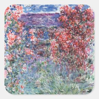 Chambre de Claude Monet | chez Giverny sous les Sticker Carré