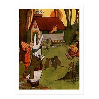 Chambre de lapins carte postale