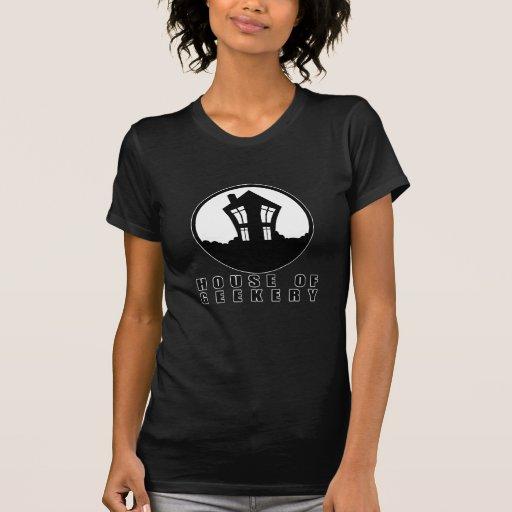 Chambre de logo de Geekery + Nom T-shirts