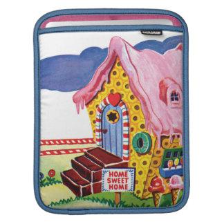 Chambre de pain de gingembre de terre de sucrerie poches pour iPad
