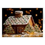 Chambre de pain d'épice cartes de vœux
