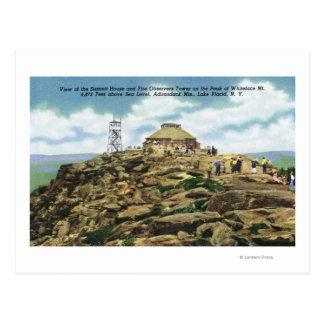 Chambre de sommet, vue de tour d'observateurs du carte postale