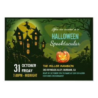Chambre hantée déplaisante de partie de Halloween Carton D'invitation 12,7 Cm X 17,78 Cm
