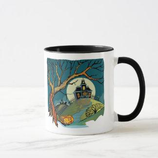 Chambre hantée éffrayante tasse