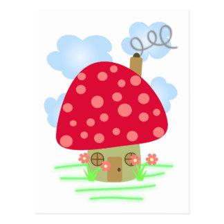 Chambre mignonne de champignon carte postale