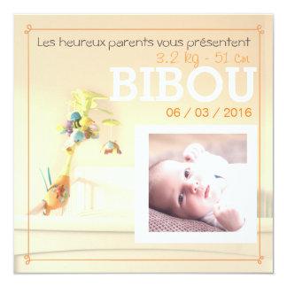 Chambre orange ⎮ Faire-part de naissance