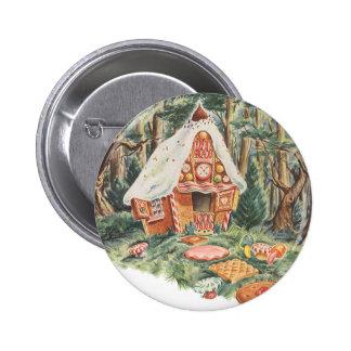 Chambre vintage de sucrerie de conte de fées, de badge rond 5 cm