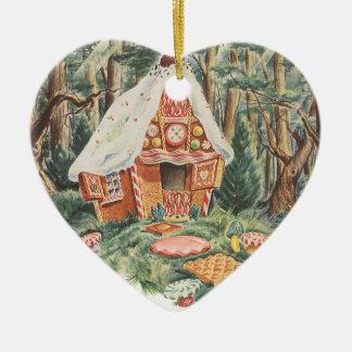 Chambre vintage de sucrerie de conte de fées, de ornement cœur en céramique