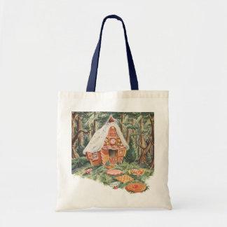 Chambre vintage de sucrerie de conte de fées, de sac en toile budget