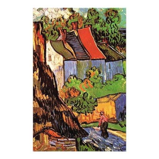 Chambres dans Auvers, beaux-arts par Vincent van Tract Personnalisé