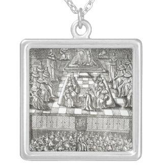 Chambres du Parlement en 1640 Pendentif Carré