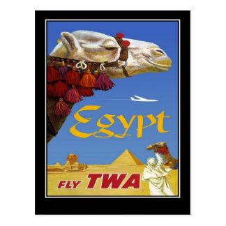 Chameau vintage de l'Egypte de voyage de carte