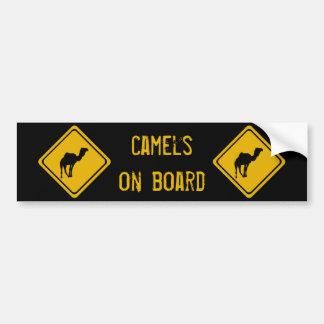 chameaux de 10 prochains kilomètres autocollant de voiture