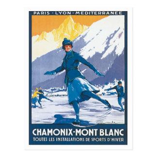 Chamonix vintage Mont Blanc Carte Postale