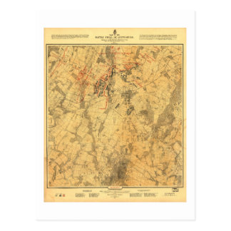 Champ de bataille de carte de Gettysburg par John