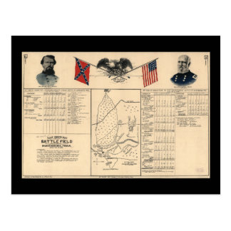 Champ de bataille de guerre civile de la carte
