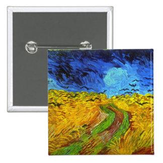 Champ de blé avec des beaux-arts de Van Gogh de Badge