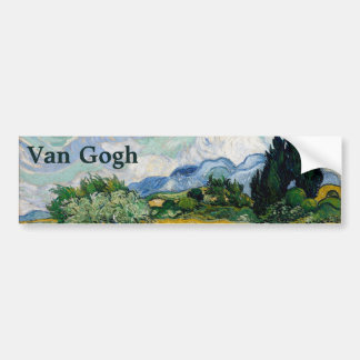 Champ de blé avec des cyprès par Vincent van Gogh Autocollants Pour Voiture