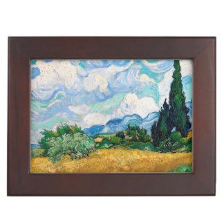 Champ de blé avec des cyprès par Vincent van Gogh Boîte À Souvenirs