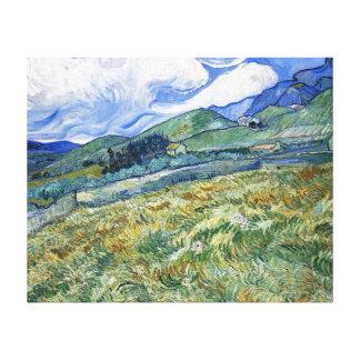 Champ de blé avec des montagnes par Van Gogh Toiles