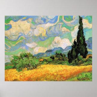 Champ de blé de Vincent van Gogh, post Poster