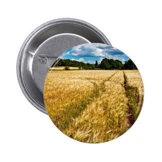 Champ de blé doré au Brandebourg Badges