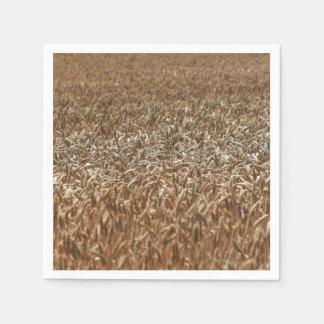 Champ de blé serviettes jetables