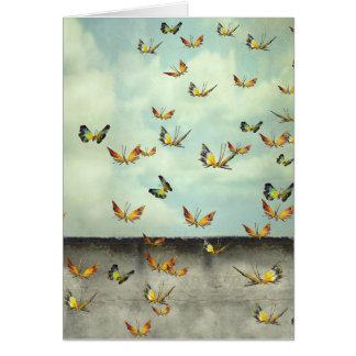 Champ de carte d'art de papillons