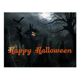 Champ de Halloween de la mort Carte Postale