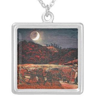 Champ de maïs par le clair de lune, 1830 pendentif carré
