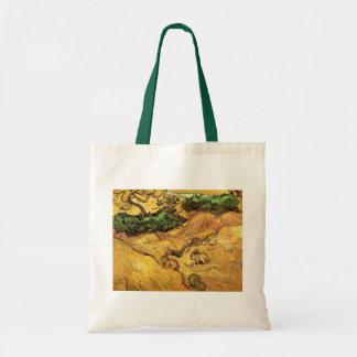Champ de Van Gogh avec deux lapins, beaux-arts Sac De Toile