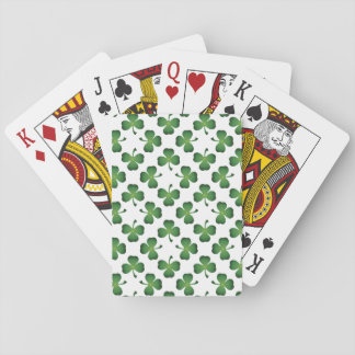 Champ des cartes de jeu de shamrocks jeu de cartes