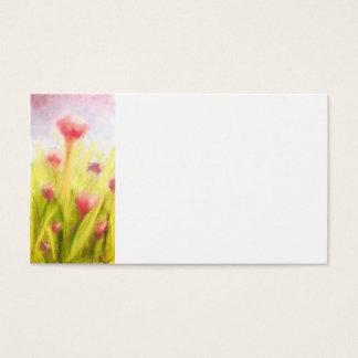 Champ des cartes de visite de fleurs