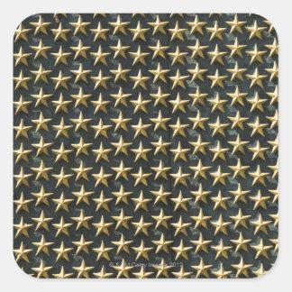 Champ des étoiles d'or au mémorial de la deuxième sticker carré