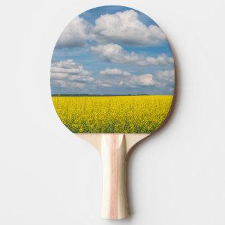 Champ et nuages de canola raquette de ping pong