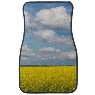 Champ et nuages de canola tapis de voiture