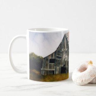 Champ rural de grange de poche de courrier de mug