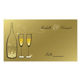 Champagne bouillonne carte nominative d'or d'endro cartes de visite professionnelles