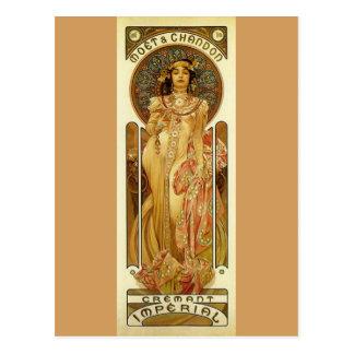 Champagne impériale - art Nouveau Carte Postale