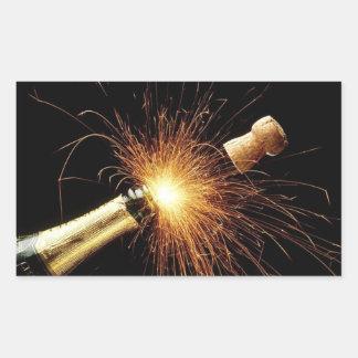 Champagne pour le nouvel an - autocollants