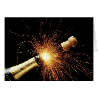 Champagne pour le nouvel an - carte