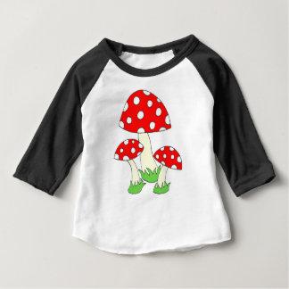 Champignon de point de polka t-shirt pour bébé