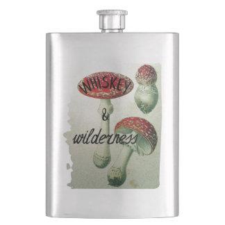 Champignon de whiskey et de région sauvage fioles