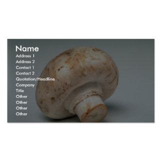 Champignon délicieux carte de visite standard
