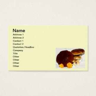 champignons cartes de visite