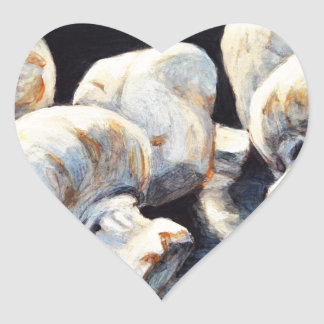 Champignons de clair de lune sticker cœur