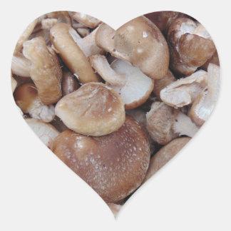 Champignons de shiitaké sticker cœur