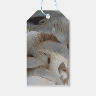 Champignons d'huître étiquettes-cadeau