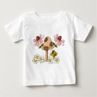 Champignons et fleurs t-shirt pour bébé